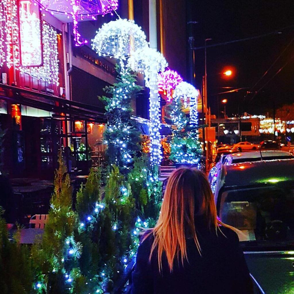 Lights and umbrellasmerrychristmas decoration lights