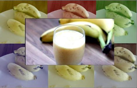 smoothie μπανάνα μπισκότο