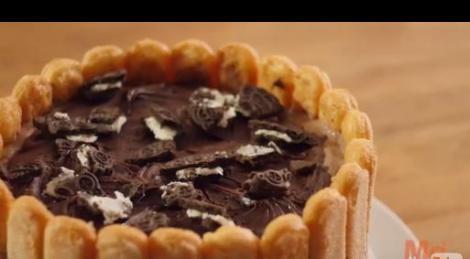 Τούρτα παγωτό σοκολάτα και μπισκότο