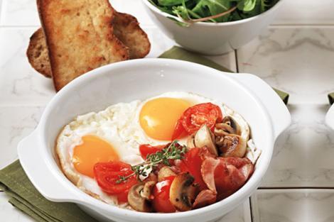 Μελάτα αυγά τηγανιτά