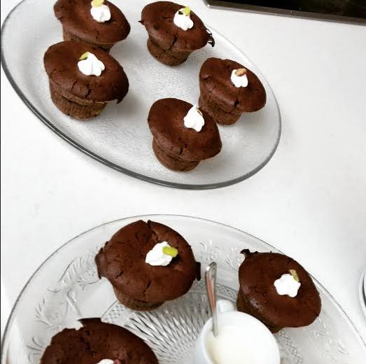 Brownies με σοκολάτα και γλάσο μερέντας 2